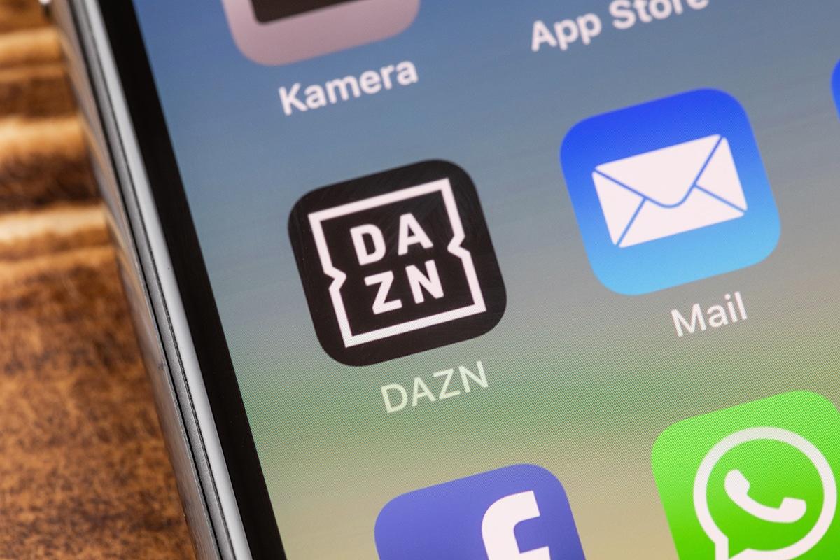 スマートフォンに入っているDAZNアプリ